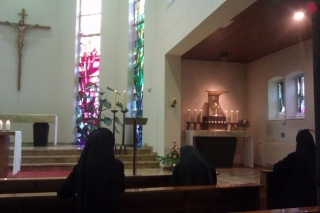 motherhouse chapel praying